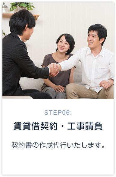 STEP06:賃貸借契約・工事請負