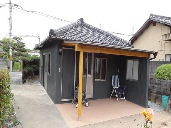 古小屋の外装改修工事